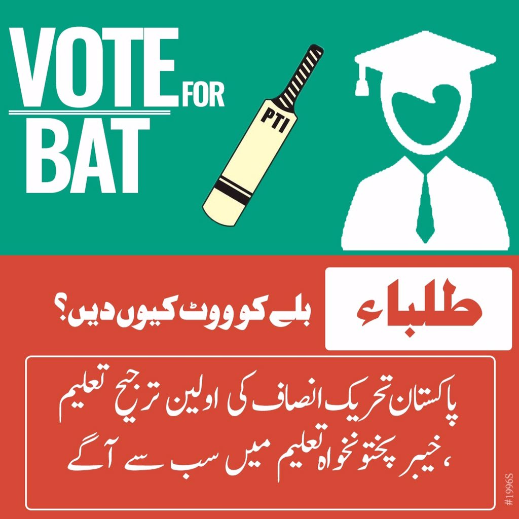 #MyVoteforPTI students know that voting for PTI is the right option.   They have only handed TT's to our students https://t.co/M9d6rHCjHm