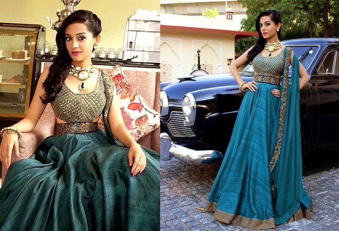 Feel the Regal Elegance in @RAMBHAJ0 choker & #RiddhimaBhasin outfit @JJSjaipur NDTV Goodtimes Repeat-Today