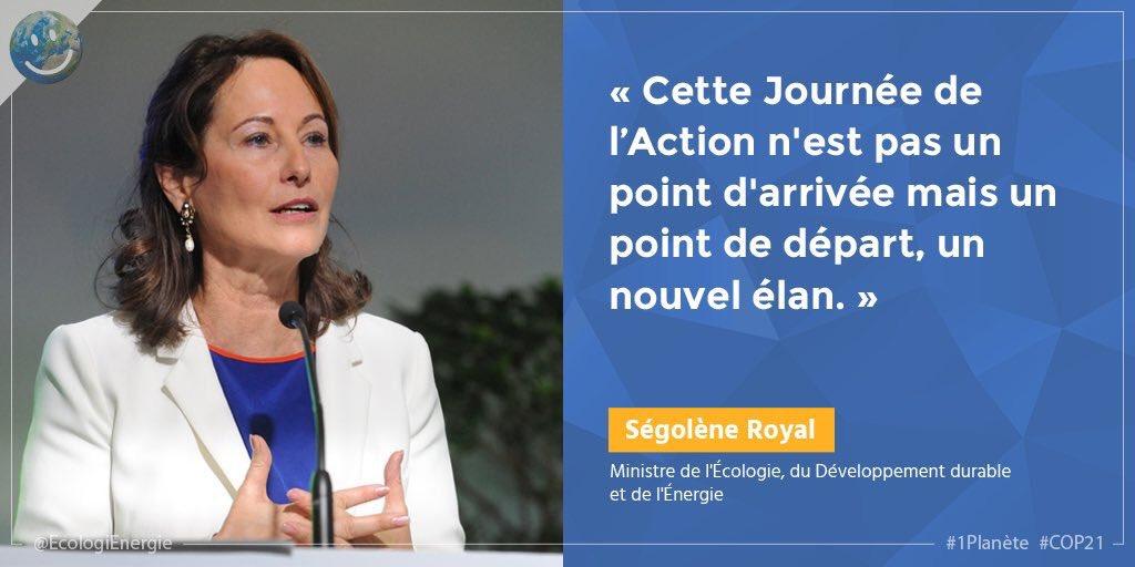 Cette Journée de l'Action n'est pas un point d'arrivée mais un point de départ, un nouvel élan #ActionDay #COP21 https://t.co/qtlUa14Xxb