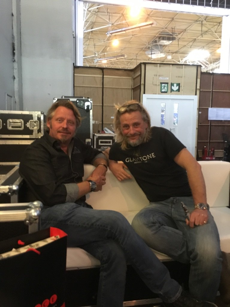 Sitting backstage at the @motorcyclelive with @HenryColeTV @charleyboorman https://t.co/9Cn8qruQ1V