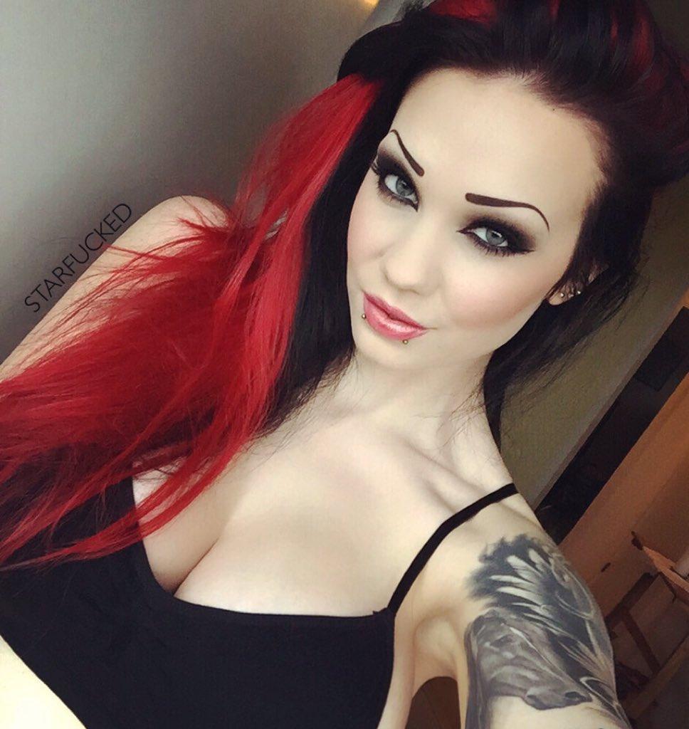 Starfucked  - Took out my twitter @StarfuckedModel redhair,piercings,inked,girlswithink,tattooed