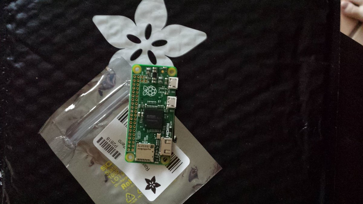 Mail came from @adafruit - my @Raspberry_Pi Zero is here. Amazing how small it is! https://t.co/YxHRSOsSV8