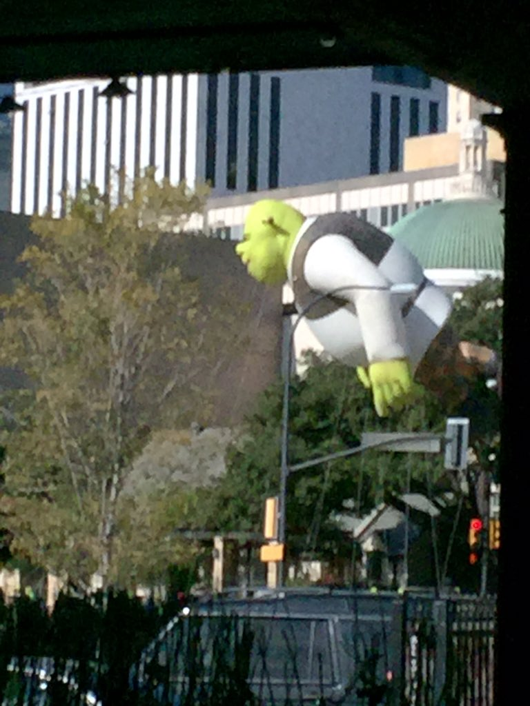 Big green thing floating by #dallasparade