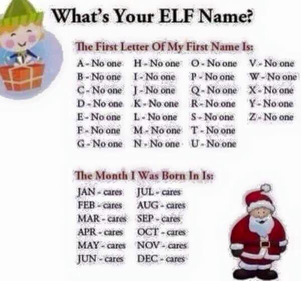 "Funny Joke On Twitter: ""What's Your #elf Name Https://t.co/JPx31FxuqF"""
