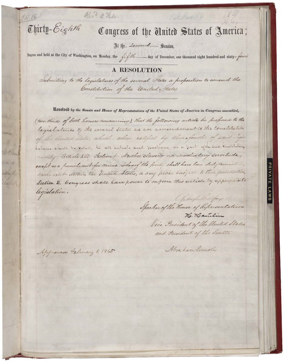 150 years ago today (Dec 6, 1865) the 13th amendment to the US Constitution ratified, officially ending slavery. https://t.co/J2YrlSSXTp