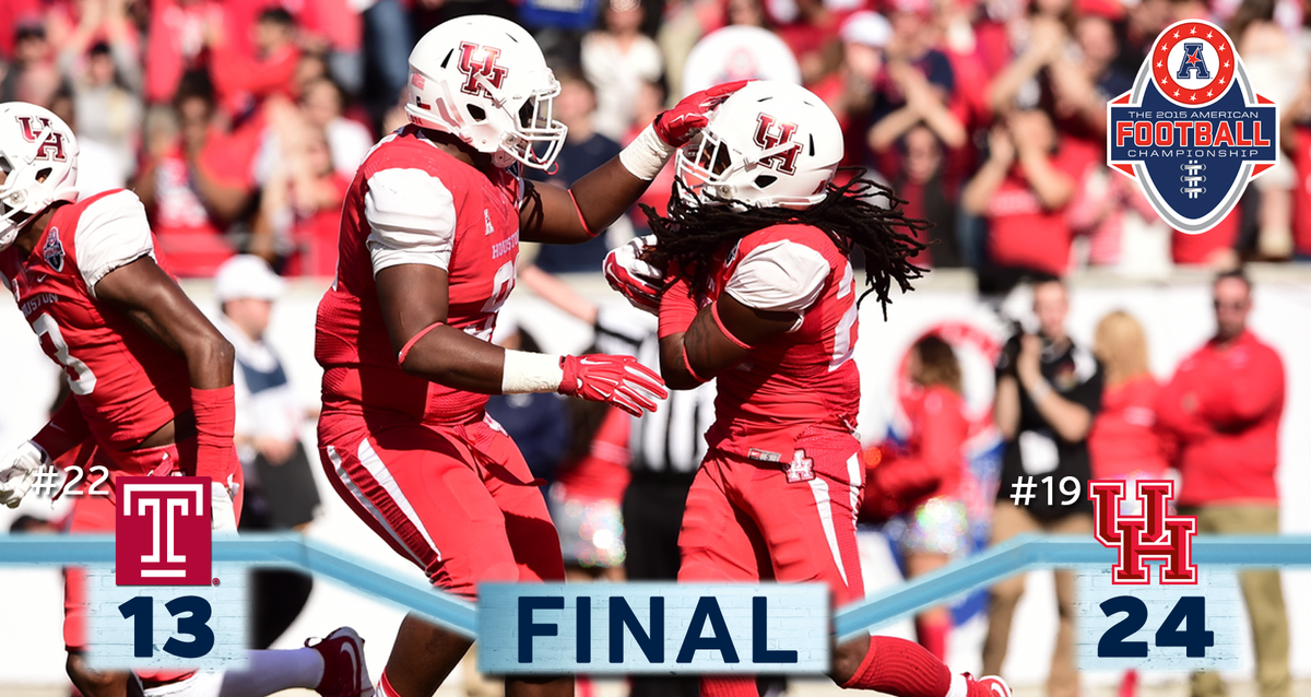 It is a final - @UHCougarFB are your 2015 @American_Conf Champions! https://t.co/YrIS45AOTA