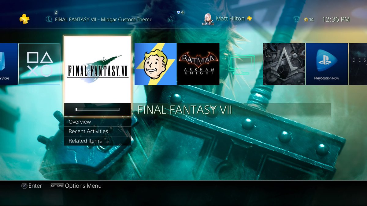 The FFVII theme you get with PS4 port is great! Plays Aerith's theme! #PS4share https://t.co/RrOSONzrNc