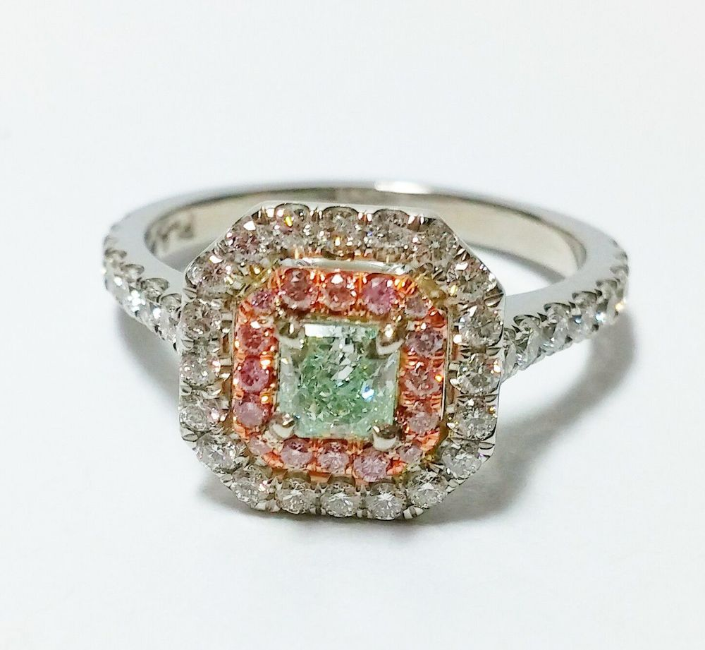 radiant mm diamond ct green color light loose clarity natural