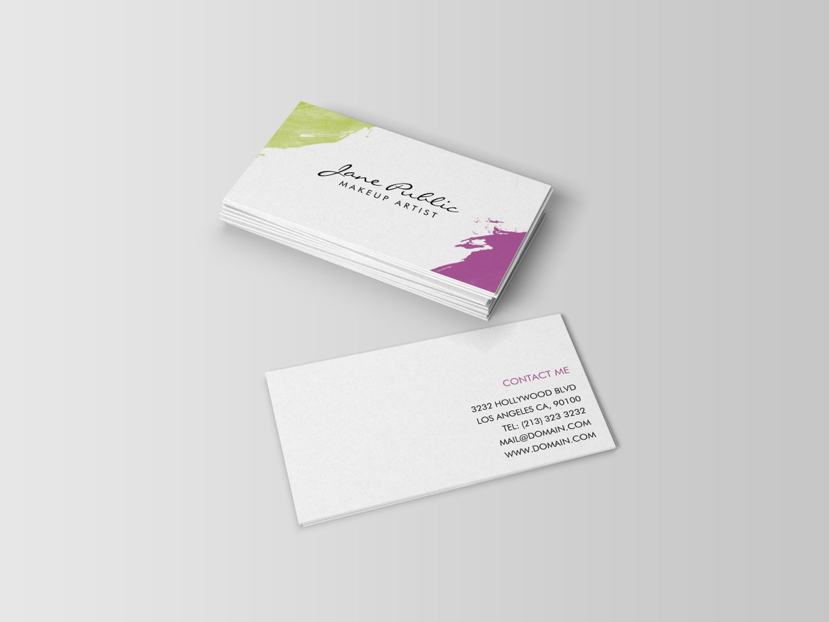 J Design On Twitter Modern MakeupArtist Business Cards Https - 10 up business card template