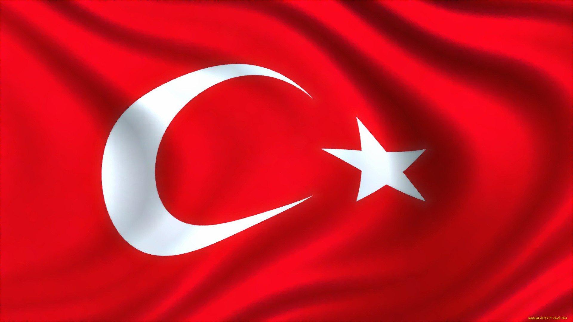 Открытка, картинки турецкий флаг