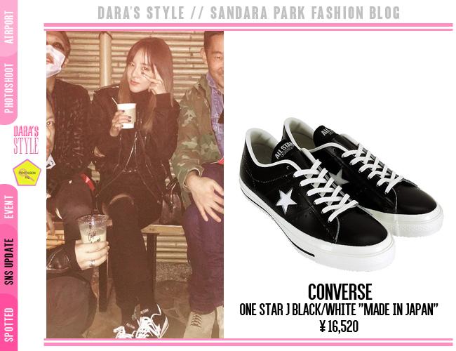 SNS Update  151205 -  Dara s Instagram Post wearing   Converse One Star J  Black White