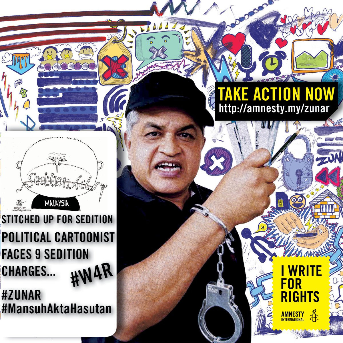 Sign the petition: Drop all charges agnst #Zunar  #InternetKita #MansuhAktaHasutan https://t.co/k0iN2LidLv https://t.co/w50KTvKyFS