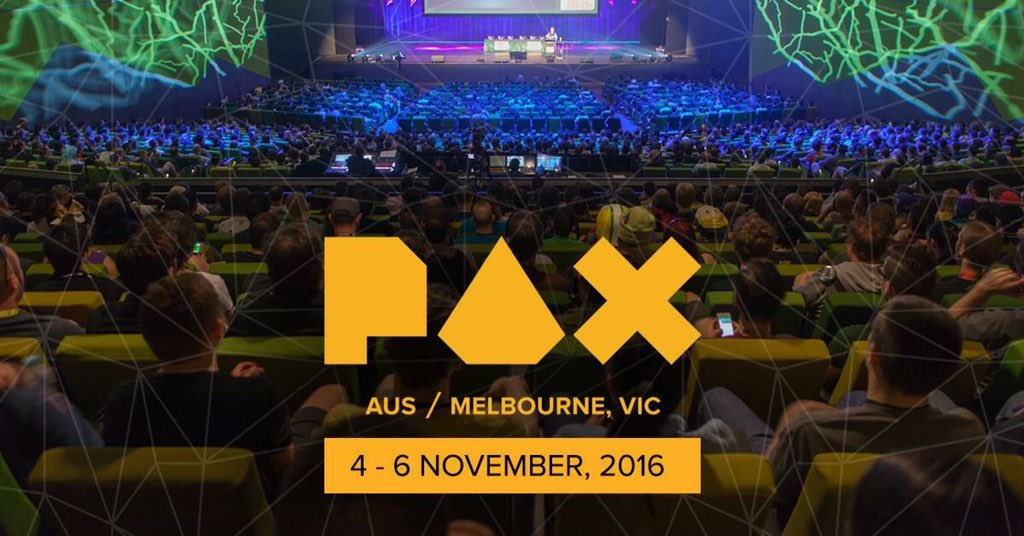 It's official: #PAXAus 2016 will take place on the 4th - 6th November! Tickets on sale this Tues at 10am AEDT! https://t.co/8AdB9WFhgo