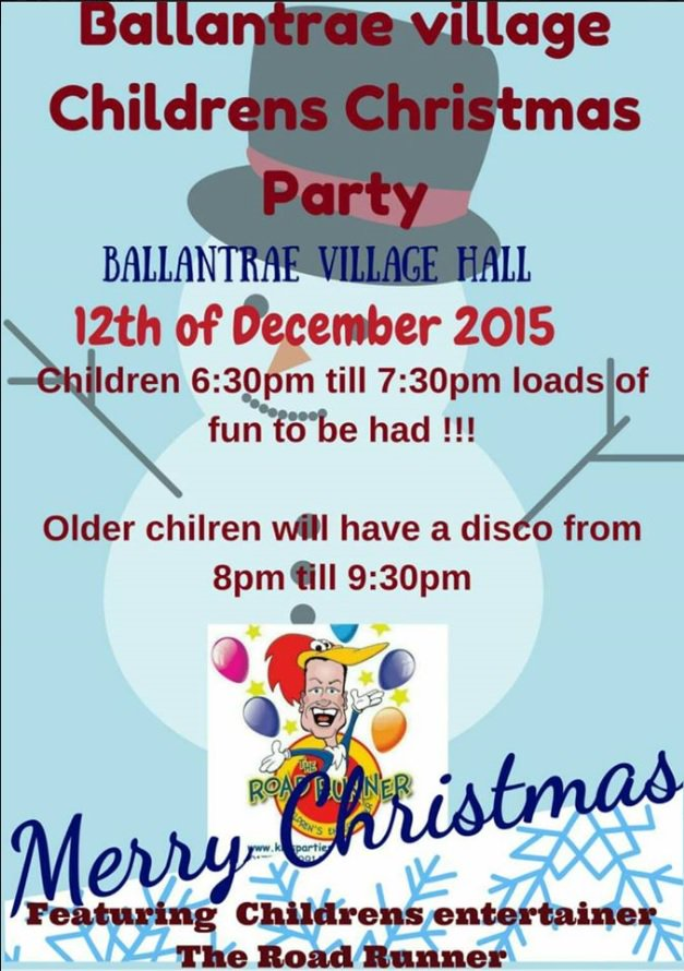 Childrens' Xmas Party @Ballantrae 12th December