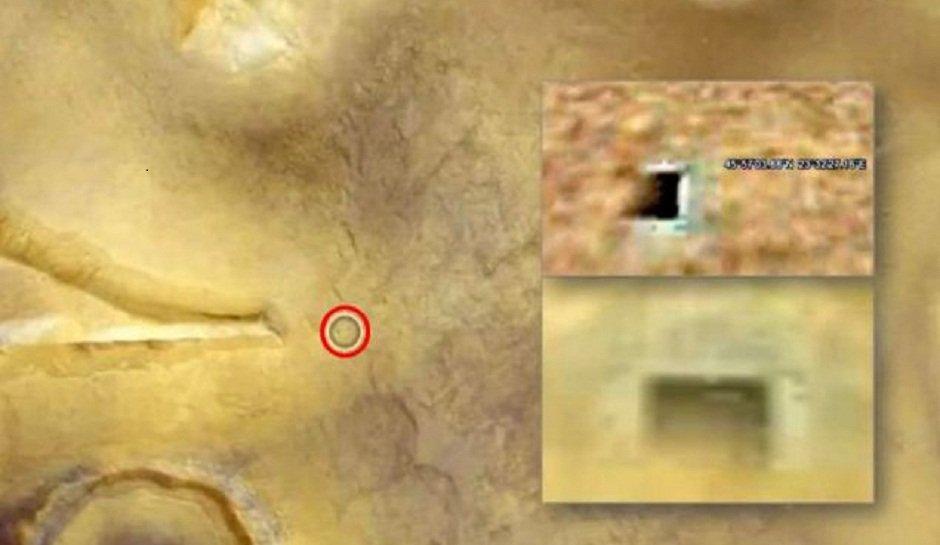 Strutture Aliene su Marte