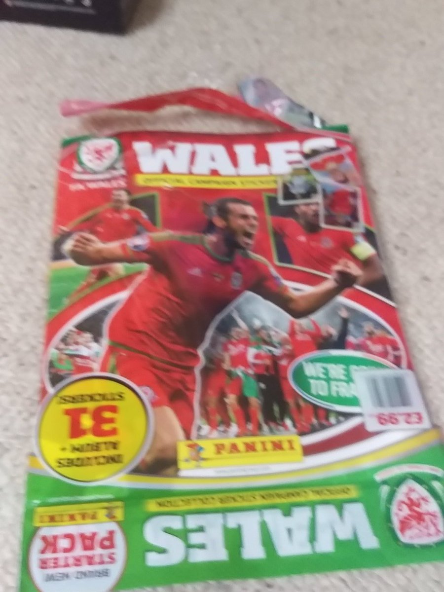 Never to old to collect! @OfficialPanini @FAWales #TogetherStronger #gotgotneed