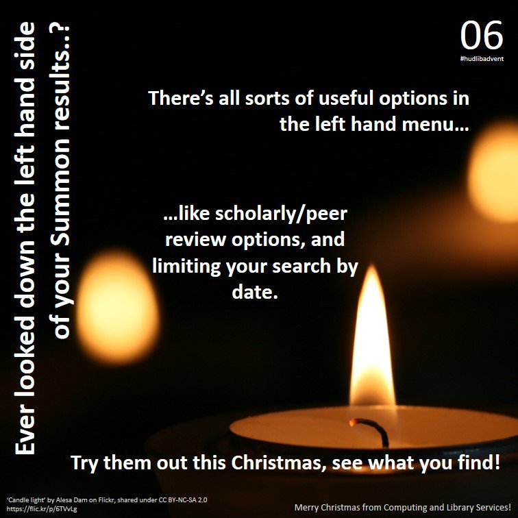 Getting some research out of the way before Christmas? Our Day 6 #hudlibadvent tip may help... https://t.co/9tkLjmIkag