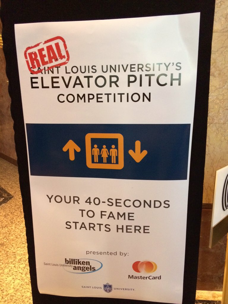 """We're ready for the @SLUent """"Real Elevator Pitch Competition!"""" https://t.co/PZISnuj4LA"""