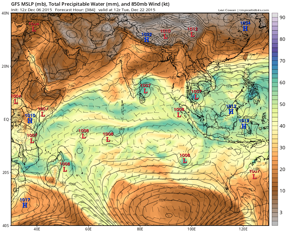 For Tamilnadu, this is NOT the end of NE-monsoon. GFS expects another rainy period from 21-Dec !! https://t.co/yUmstelhmI