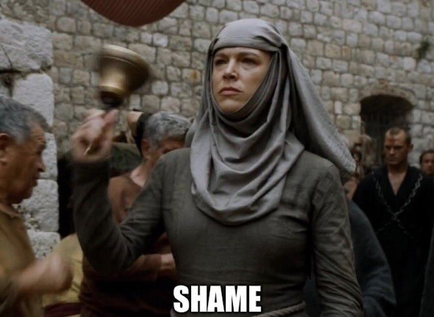 Shame nun of Game of Thrones