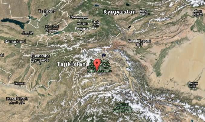 Terremoto Oggi Tagikistan M7,2 sentito a Nuova Delhi (India)