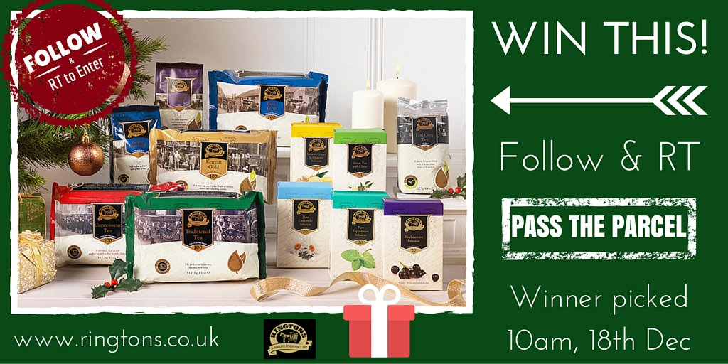 Follow and RT to win this Ultimate Tea lover's Gift Set. #passtheringtonsparcel https://t.co/GQxA1aOimP
