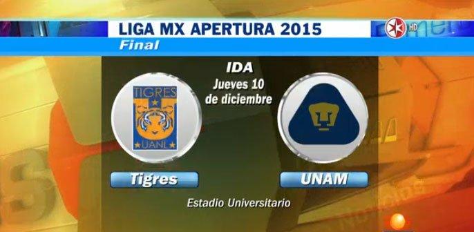 Tigres vs Pumas por Televisa Deportes