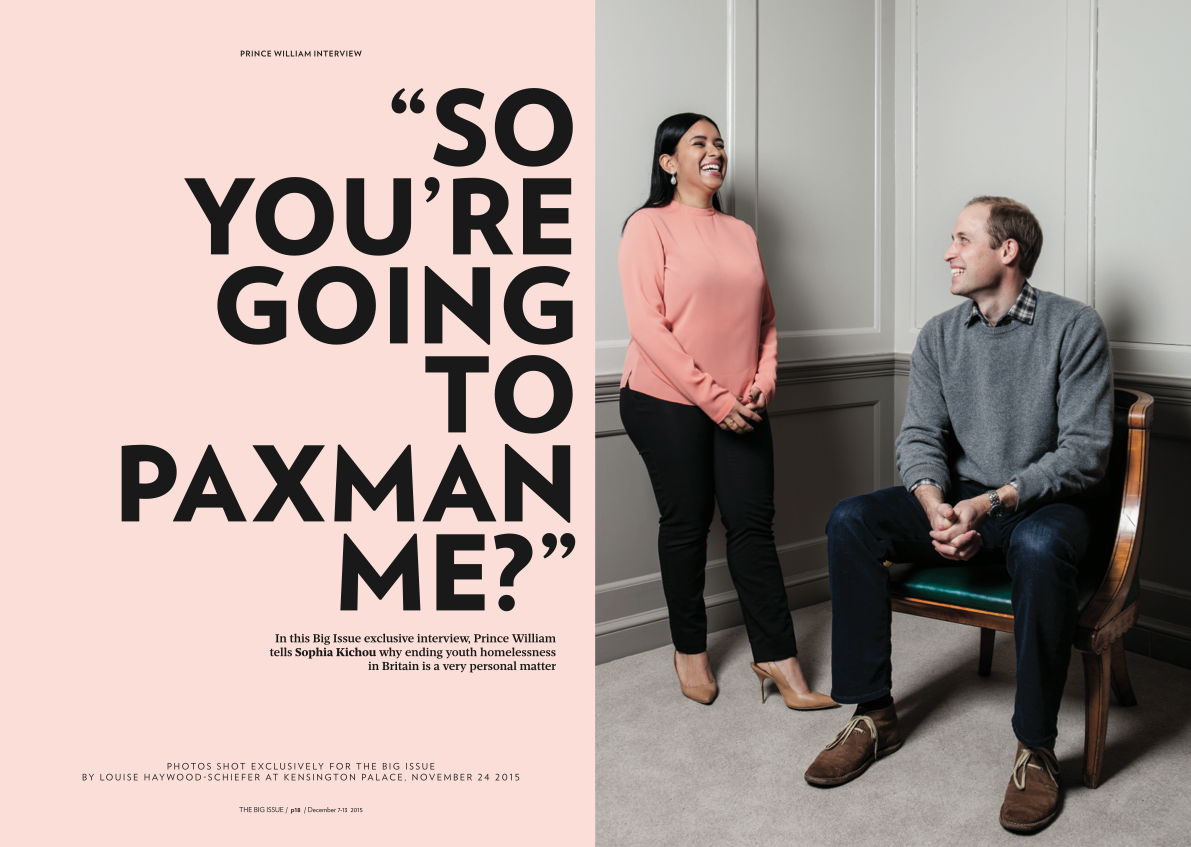 The only place to read the exclusive, one-on-one interview with Prince William? In this week's Big Issue - out now. https://t.co/kL3yg8C1kh