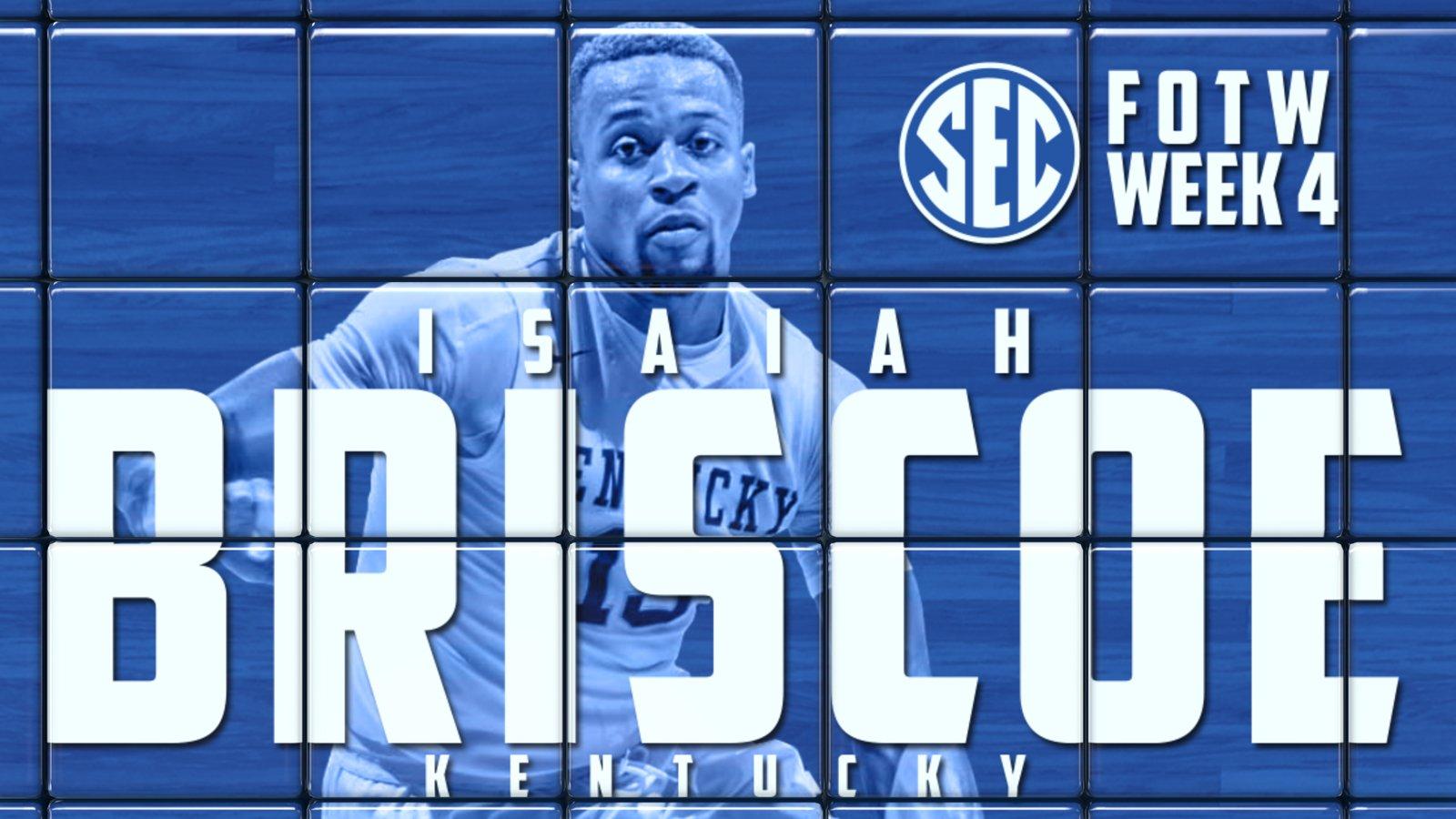 Kentucky Basketball Fox Named Sec Freshman Of The Week: Isaiah Briscoe Named SEC Freshman Of The Week