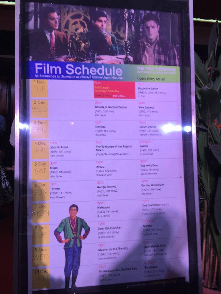 Don't miss out the week-long @TheDilipKumar and #MarlonBrando film screenings at Liberty, Mumbai https://t.co/cMYv4VUeGP