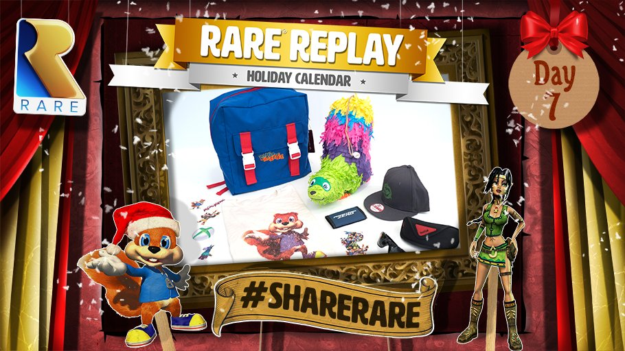 Want to win an exclusive #RareReplay VIP Fan Pack? Follow and RT to enter! #ShareRare T&Cs: https://t.co/Txk744DriP https://t.co/D6hsbnsiwv