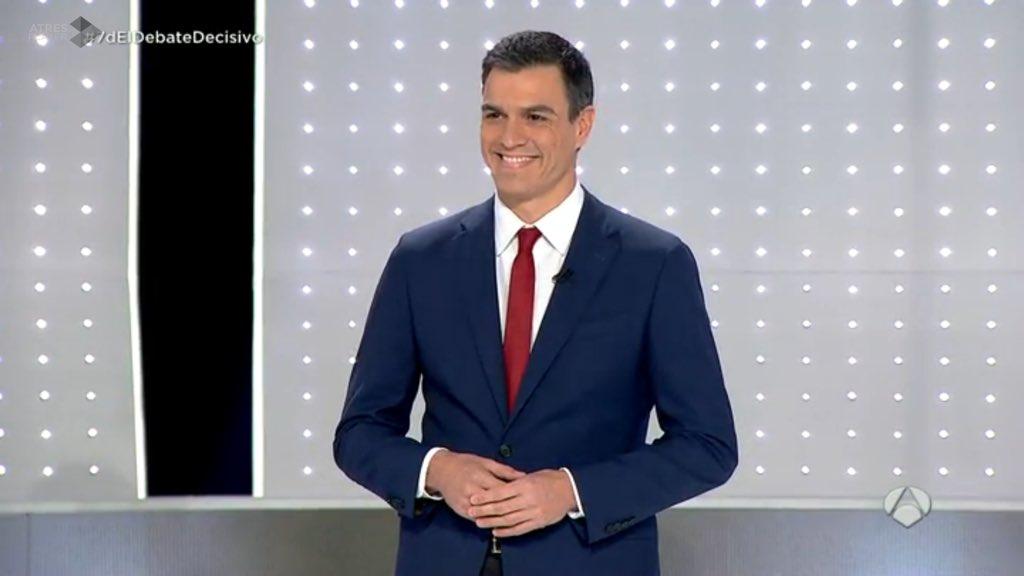 Pedro @sanchezcastejon el más firme y riguroso del #7DElDebateDecisivo ¡Tenemos Presidente! https://t.co/W0DGDeNHdE