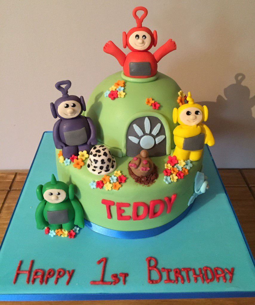 Astonishing Kristy Cakes On Twitter Teletubbies Birthday Cake Made For Birthday Cards Printable Nowaargucafe Filternl