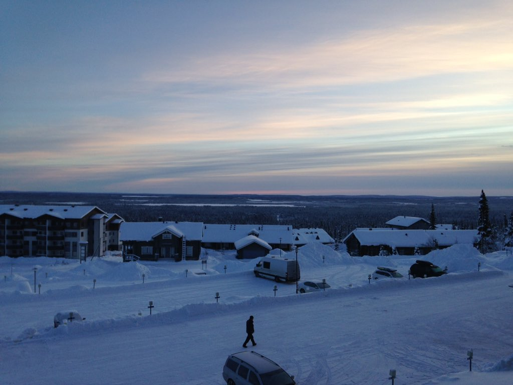 This was the view from my 'office' last week in Finland. Got to -20c one day