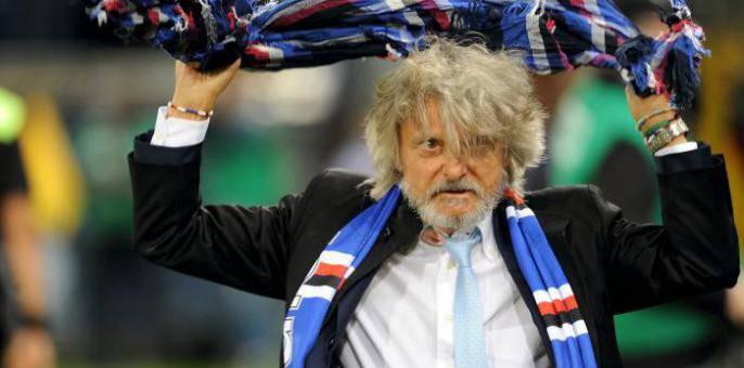Il presidente della Sampdoria, Massimo Ferrero