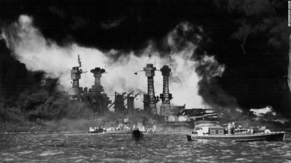 Today in 1941, #PearlHarbor was attacked by Japan, bringing the U.S. into #WWII https://t.co/xLi8XkhulM @CNNPhotos