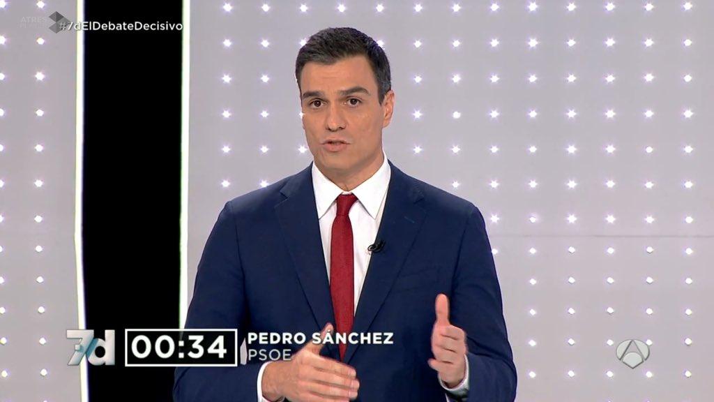 Pedro @sanchezcastejon ha dado una nueva lección de solvencia y preparación ¡Tenemos Presidente! #7DElDebateDecisivo https://t.co/srn5Ox6xBs
