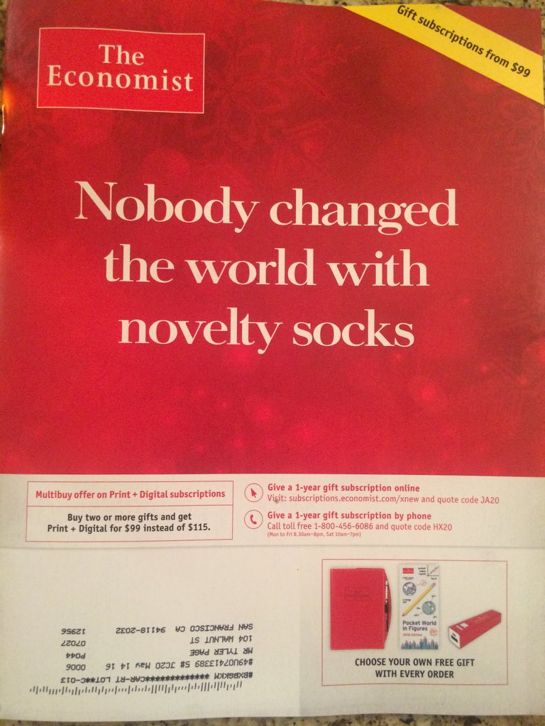 TheEconomist it's all about how you change the way ppl see the world. Opportunity is the ultimate goal. #swapsockspic.twitter.com/YZ0chKsWLW