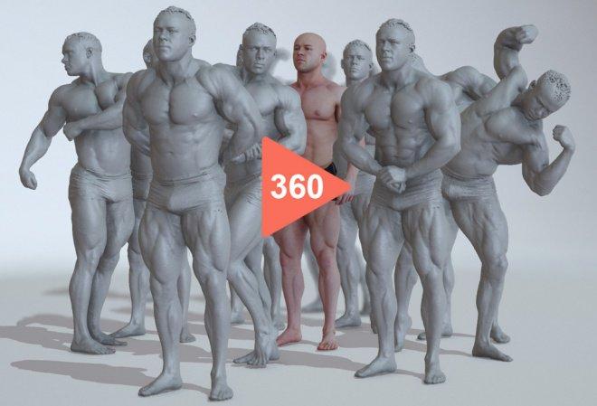 Free 360 Degree Heroic Figure Reference - 最高の参考資料だ!ブラウザ上でグリグリ回せるポーズ付きマッチョ男性の3Dスキャンモデル! 3D人 https://t.co/uSe0MXdNjX https://t.co/FzJUg0CeBD