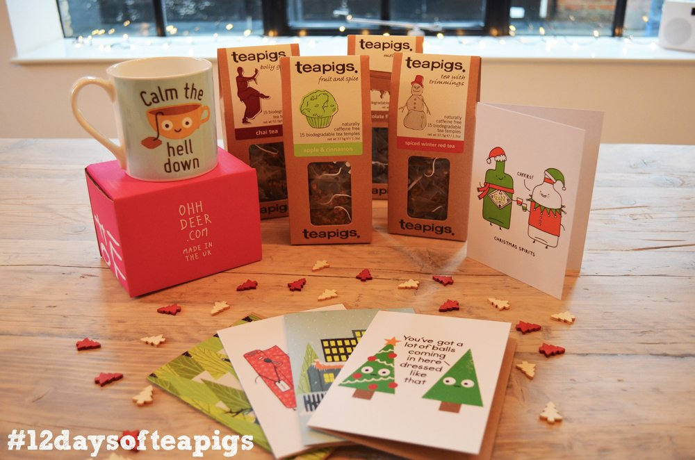 We've got a bunch of @ohh_deer goodies to give away! RT & follow by 7pm to win one of 5 prizes! #12daysofteapigs https://t.co/Dc1PqXNHTG
