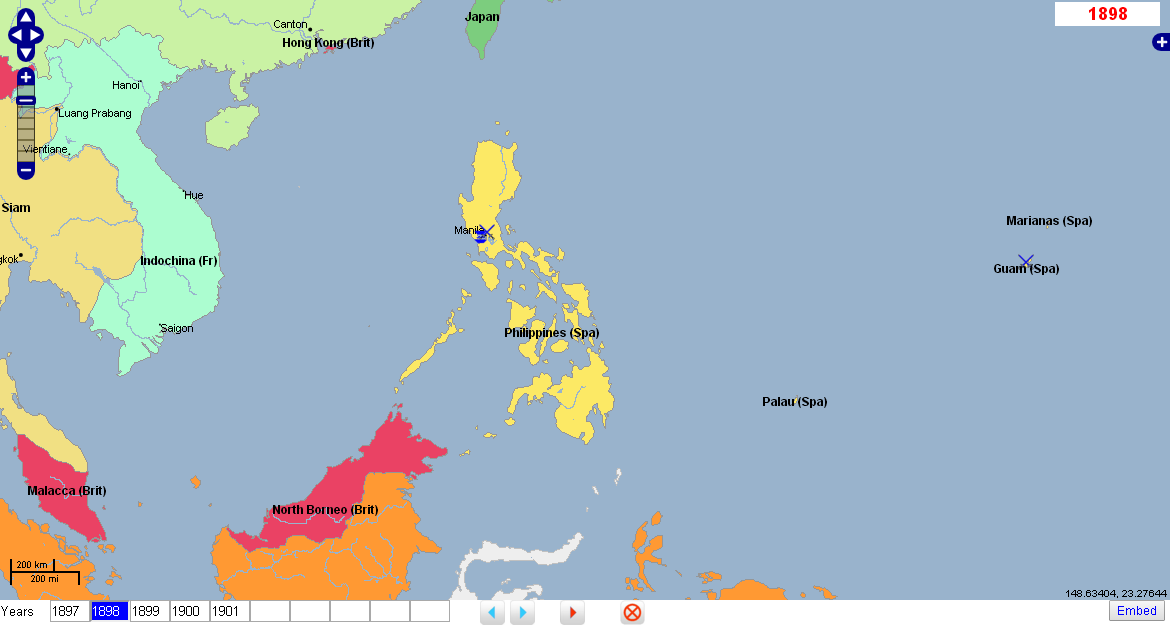 Spanish American War Philippines Map.Geacron On Twitter World History Atlas Timelines Spanish