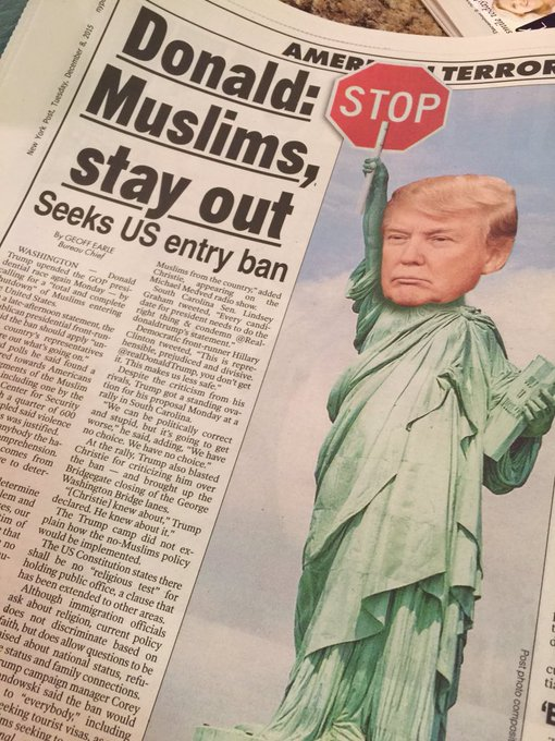 Donald Trump Calls for Ban on All Muslims Entering US