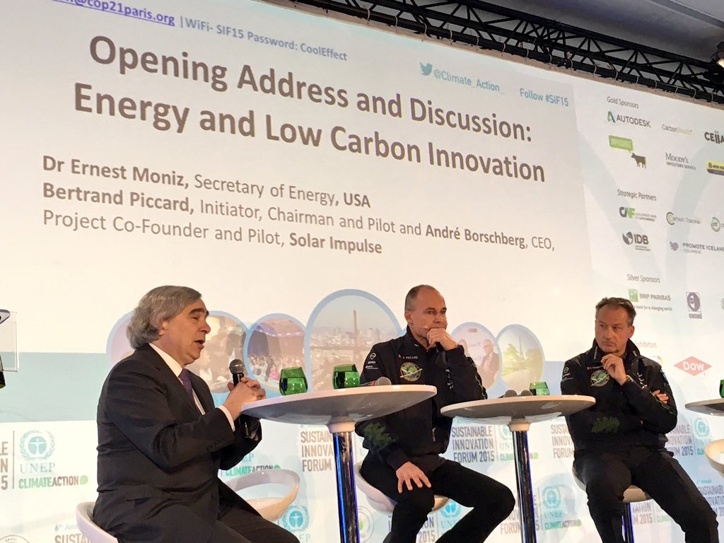 """@UNEP: .@ErnestMoniz of @ENERGY: We are seeing a capacity to innovate that is quite tremendous. #SIF15 https://t.co/qaWkjcW1MW"""