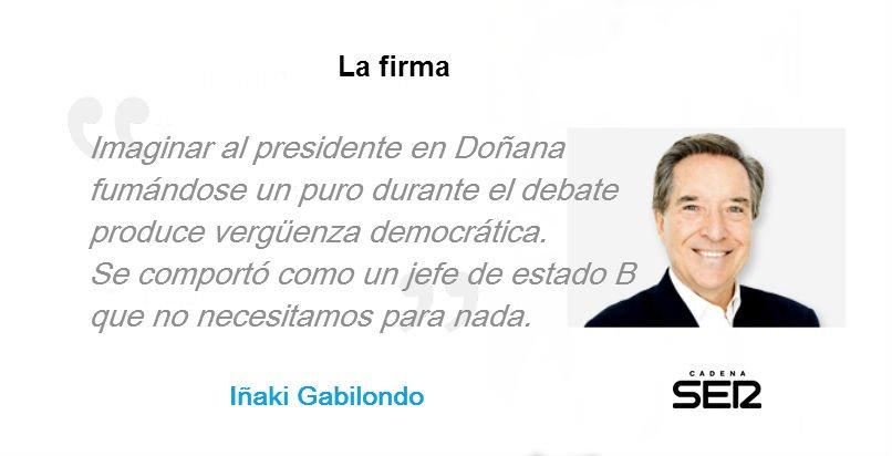 """""""¿Quién crees que ganó el debate?"""" La firma de Iñaki Gabilondo: https://t.co/Blk5PQg0IN https://t.co/37f5kgSbvD"""