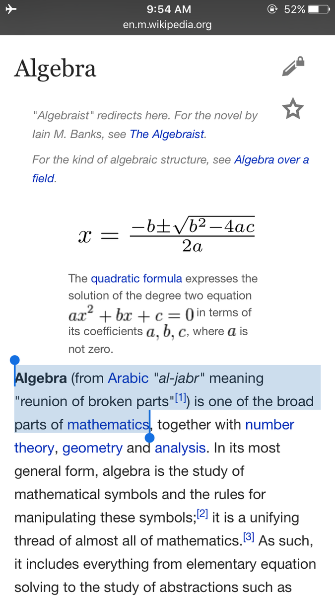 Asem H On Twitter Brahamvakya Actually Algebra Is An Arabic Word