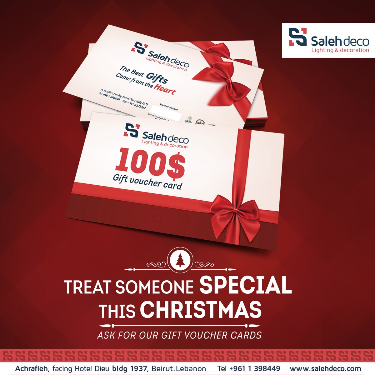 Treat someone #special this #Christmas! Ask for our #gift #voucher cards  Tel: 01398449 #HappyHolidays #salehdeco https://t.co/lbNqpFlFdu