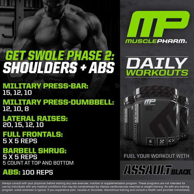 Musclepharm On Twitter Daily Workouts Tuesday Shoulders Abs Welivethis Realathletesrealscience Mpnation Https T Co 2iy4xonsob