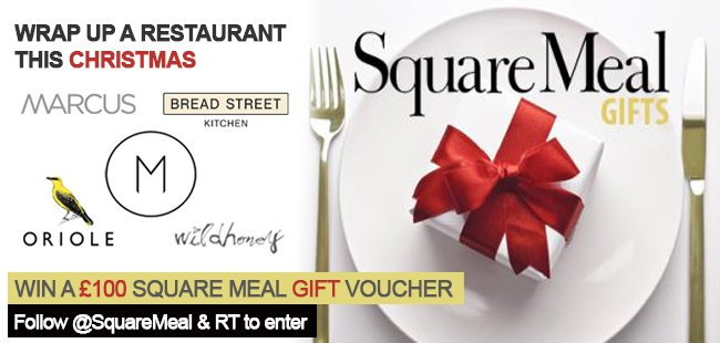 #WIN a £100 Square Meal gift voucher! Just follow @SquareMeal & RT to enter https://t.co/wAzhpH3876 #competition