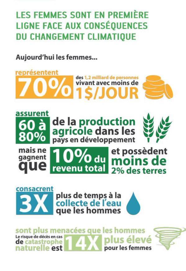 [#COP21] Les femmes sont en première ligne face au changement climatique #femmesetclimat >> https://t.co/NXqlTXjsld https://t.co/3S25xv3PMK