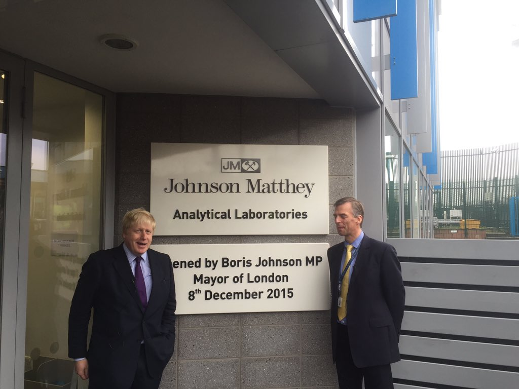 Brilliant visit to open new @Johnson_Matthey lab Enfield - helping improve air quality building catalytic converters https://t.co/lD4E4INLRS